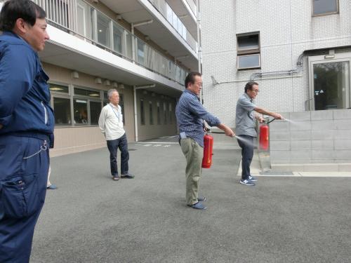 サン舞子マンションの避難訓練