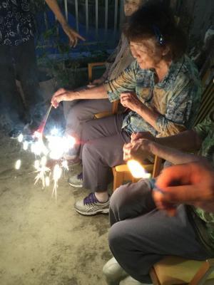 【夏の思い出】スイカと花火とシャボン玉